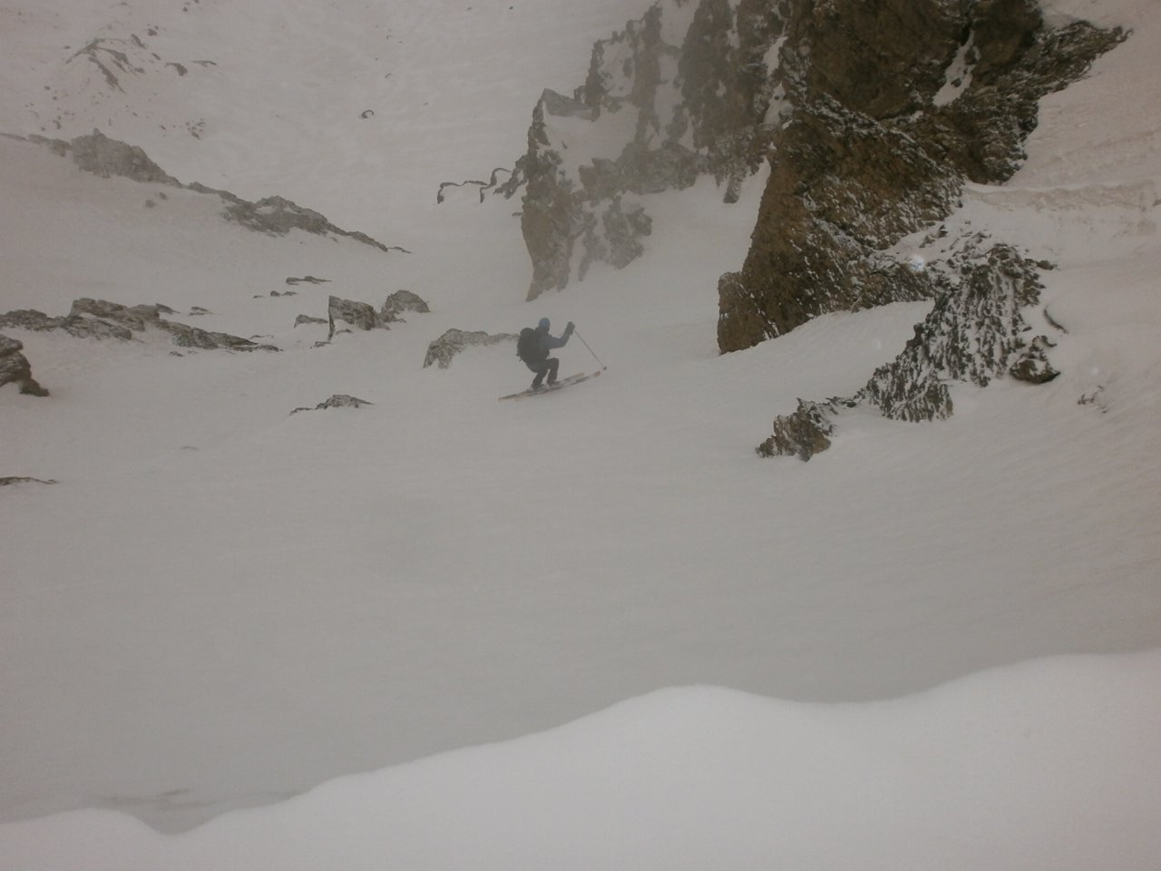 Canale di destra neve tecnica