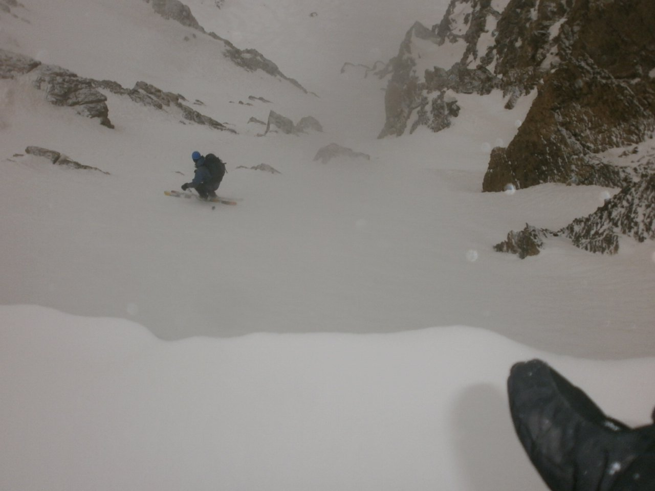 DX il bullo testa gli sci sul duro