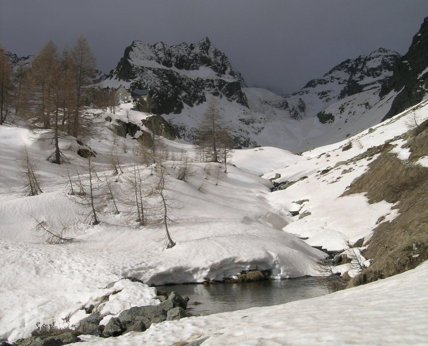 il vallone dell'Ischiator da sotto il Rifugio Migiorero