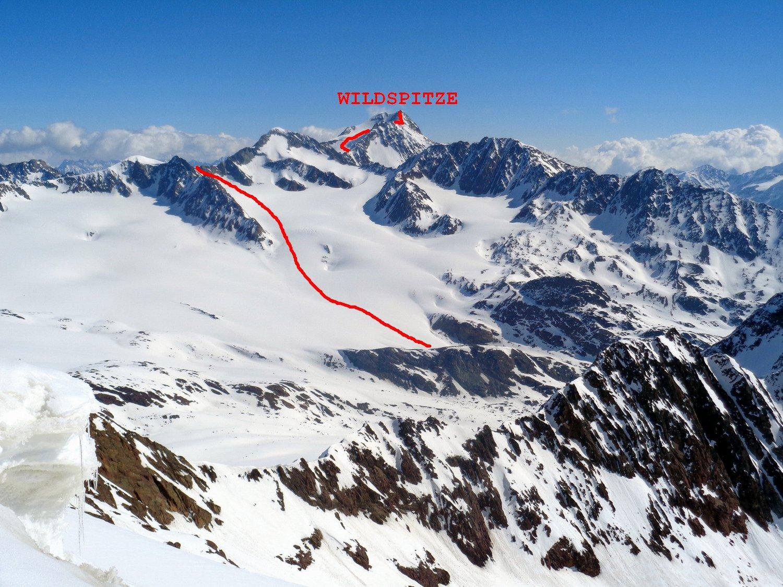 D4 salita al Wildspitze