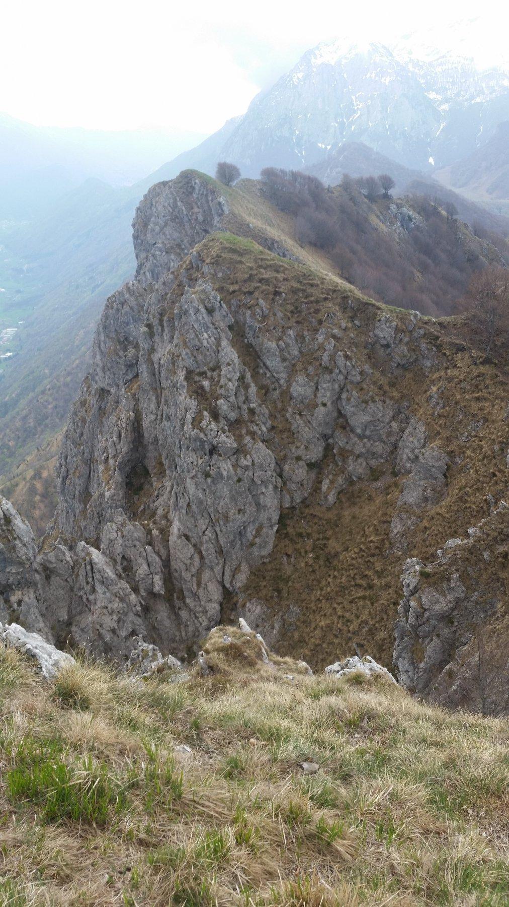 La cresta con il Grignone sullo sfondo
