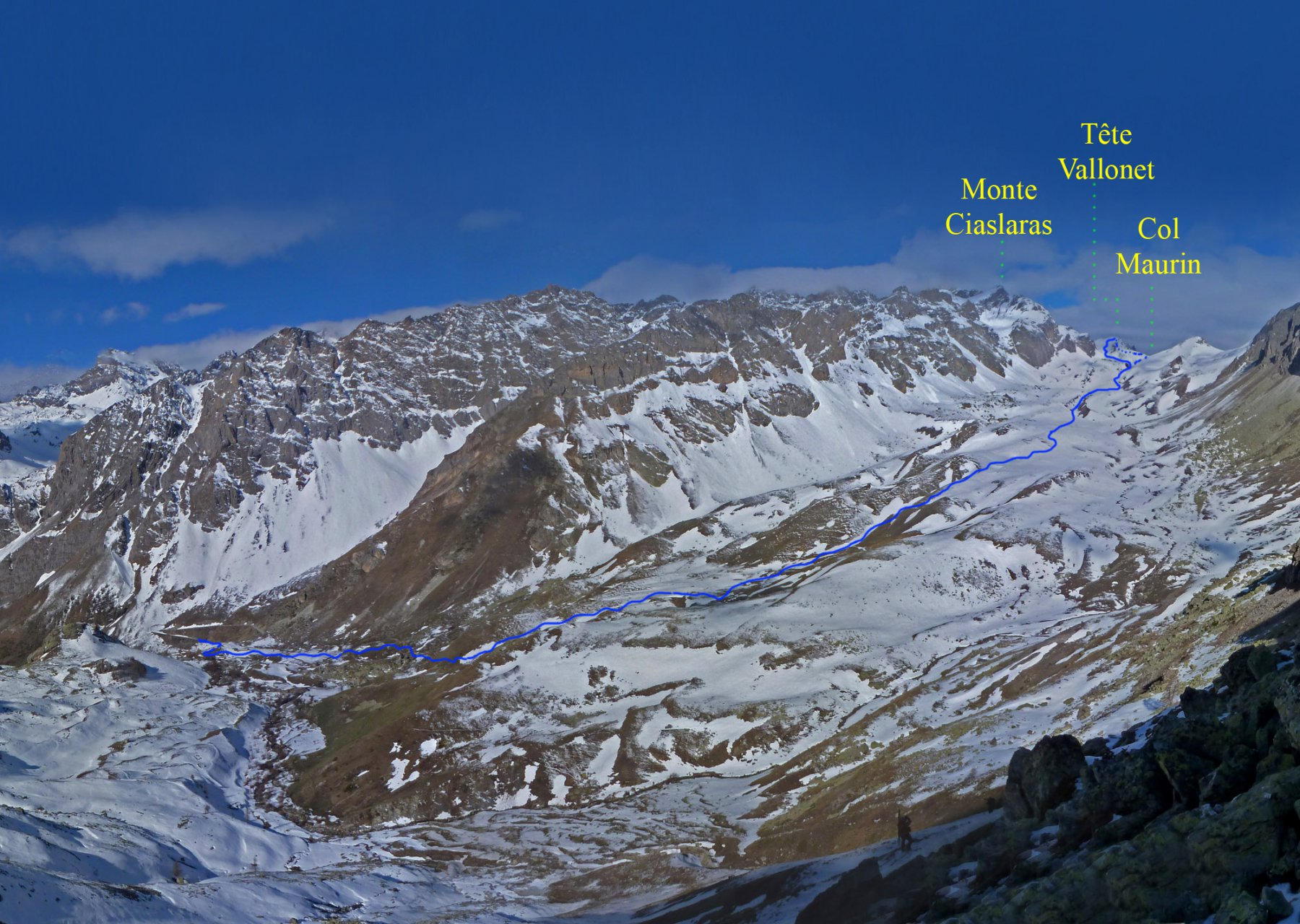 L'itinerario visto dal Monte Albrage