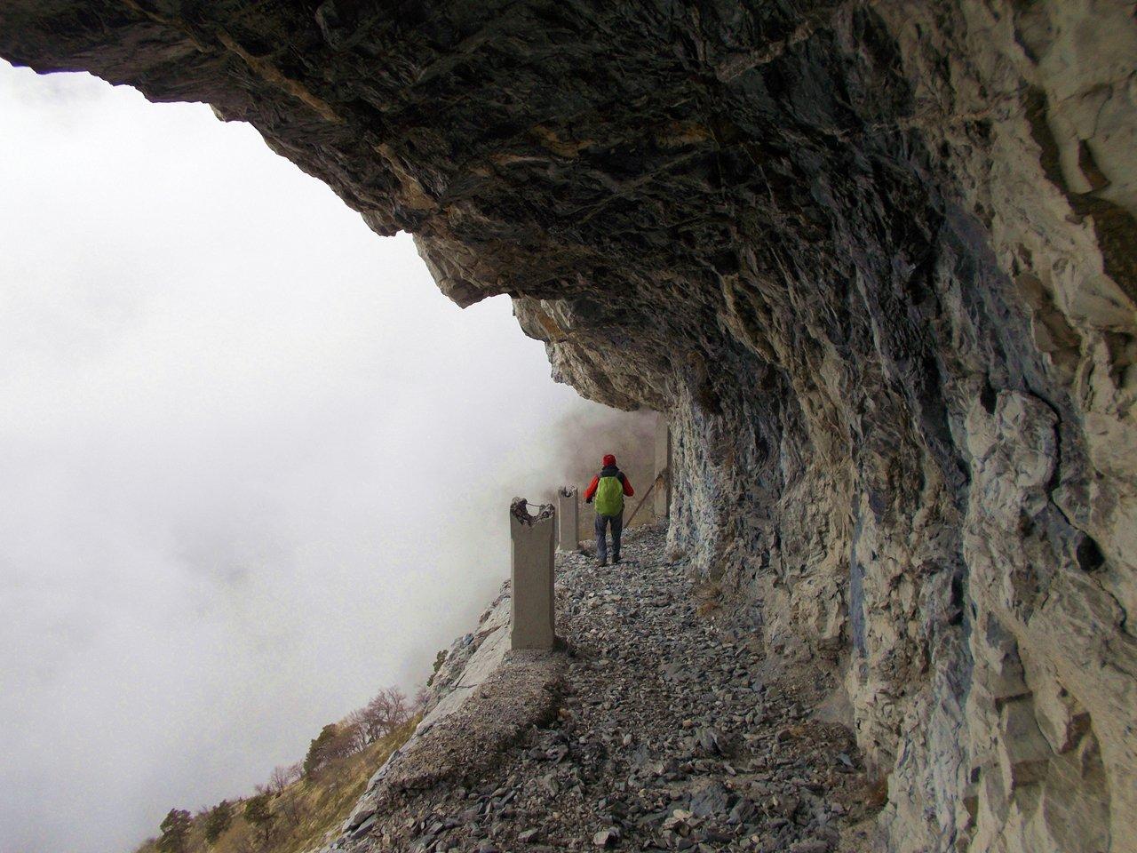 Un tratto tipico del sentiero