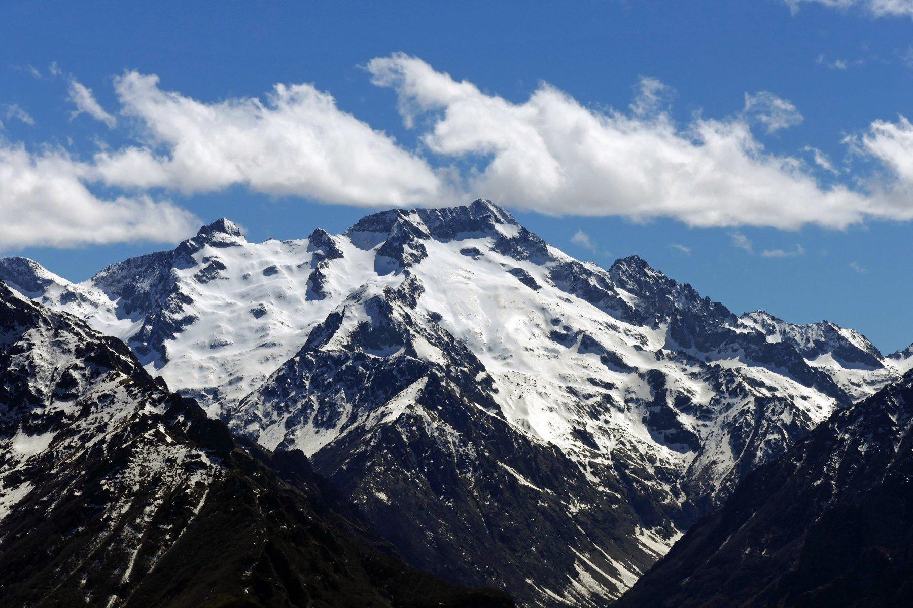 Vista sul glaciale gruppo del Gelas