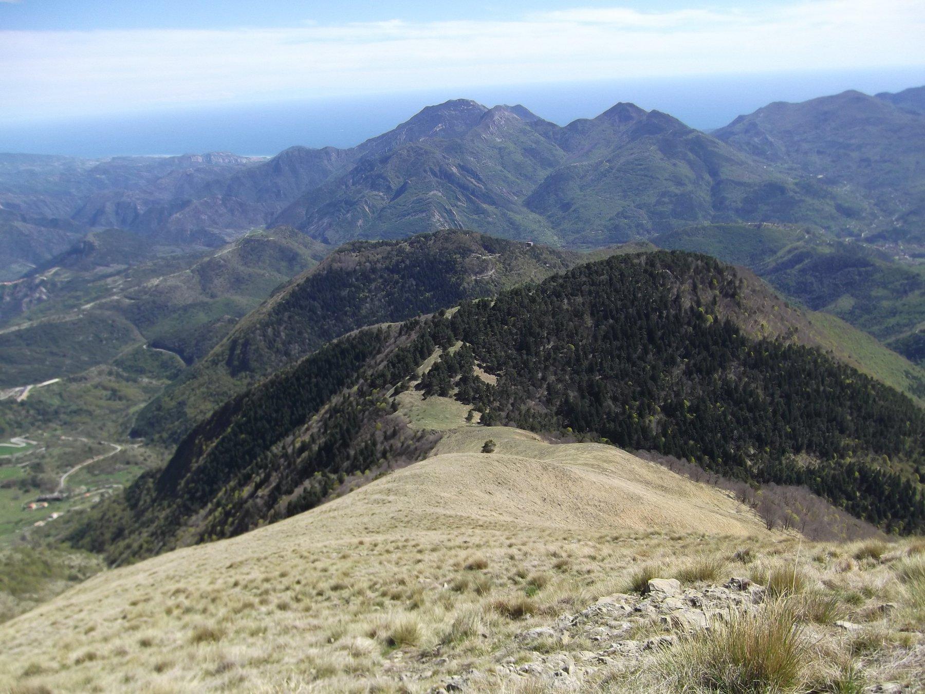 Ventabren (Pointe de) da Breil Sur Roya, anello per Mont Mangiabo' 2016-04-18