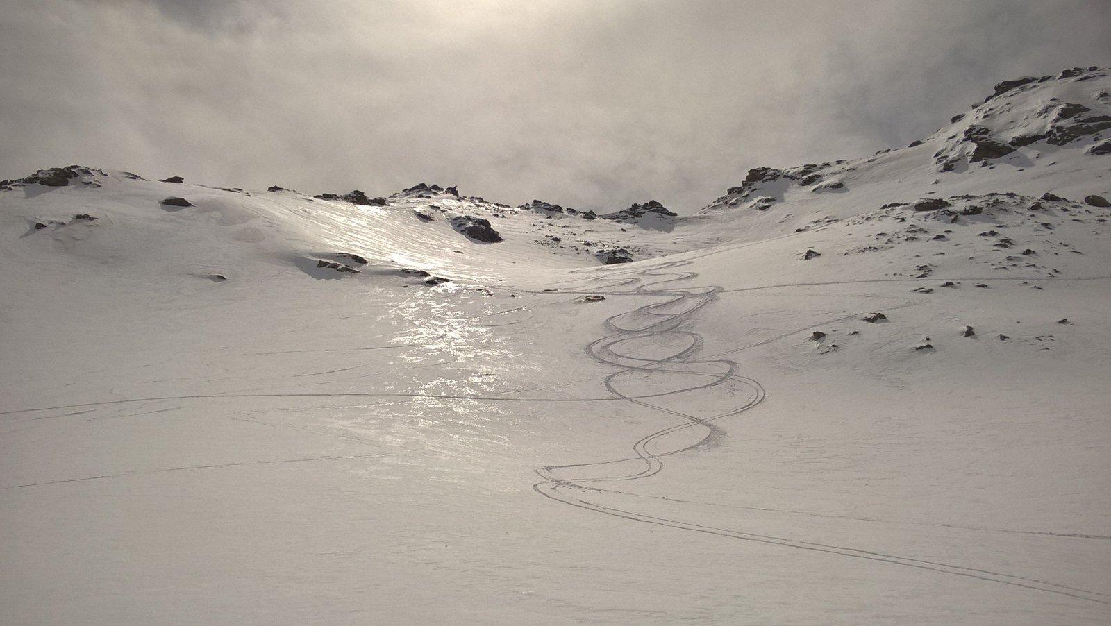 Tratto con neve fresca