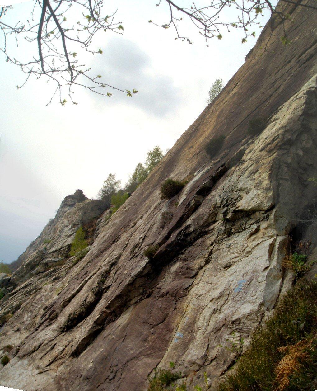 Palestra di roccia.