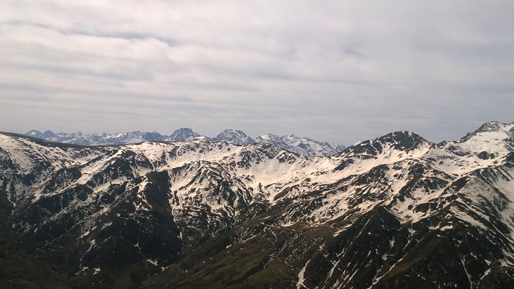 vista sul gruppo dell'Argentera e del Monte Matto