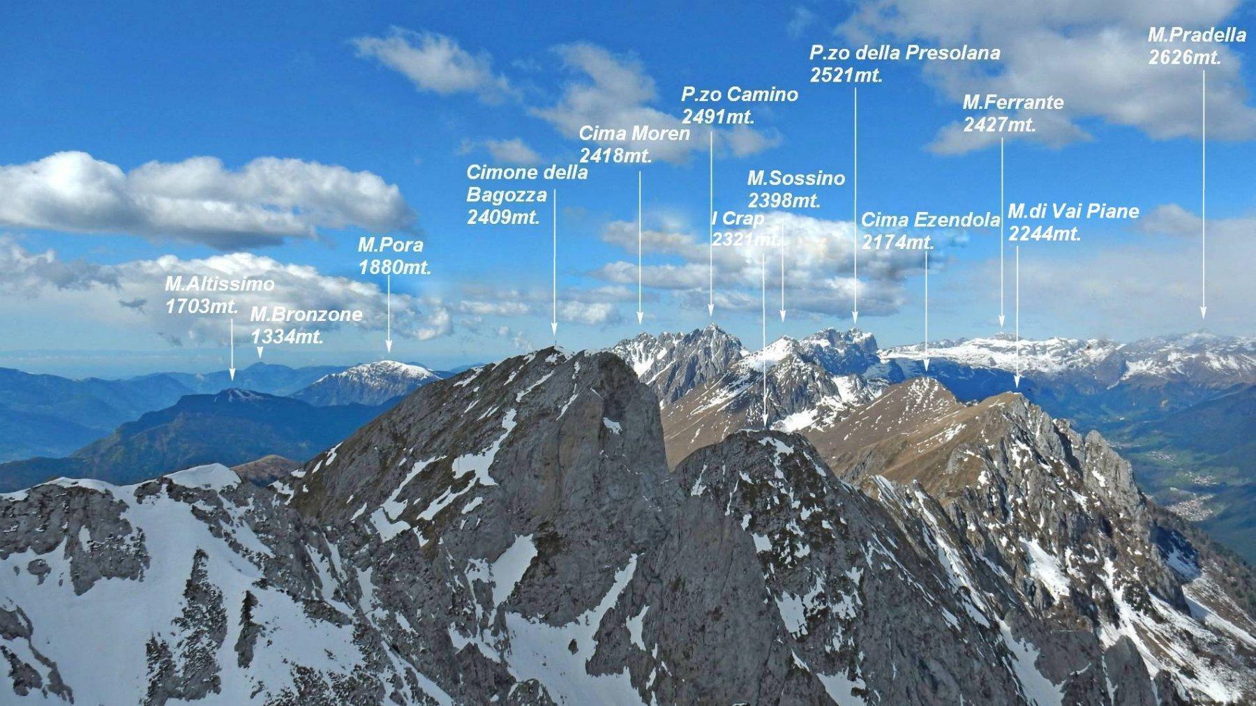 Panorama dalla vetta di Cima Mengol 2421mt.
