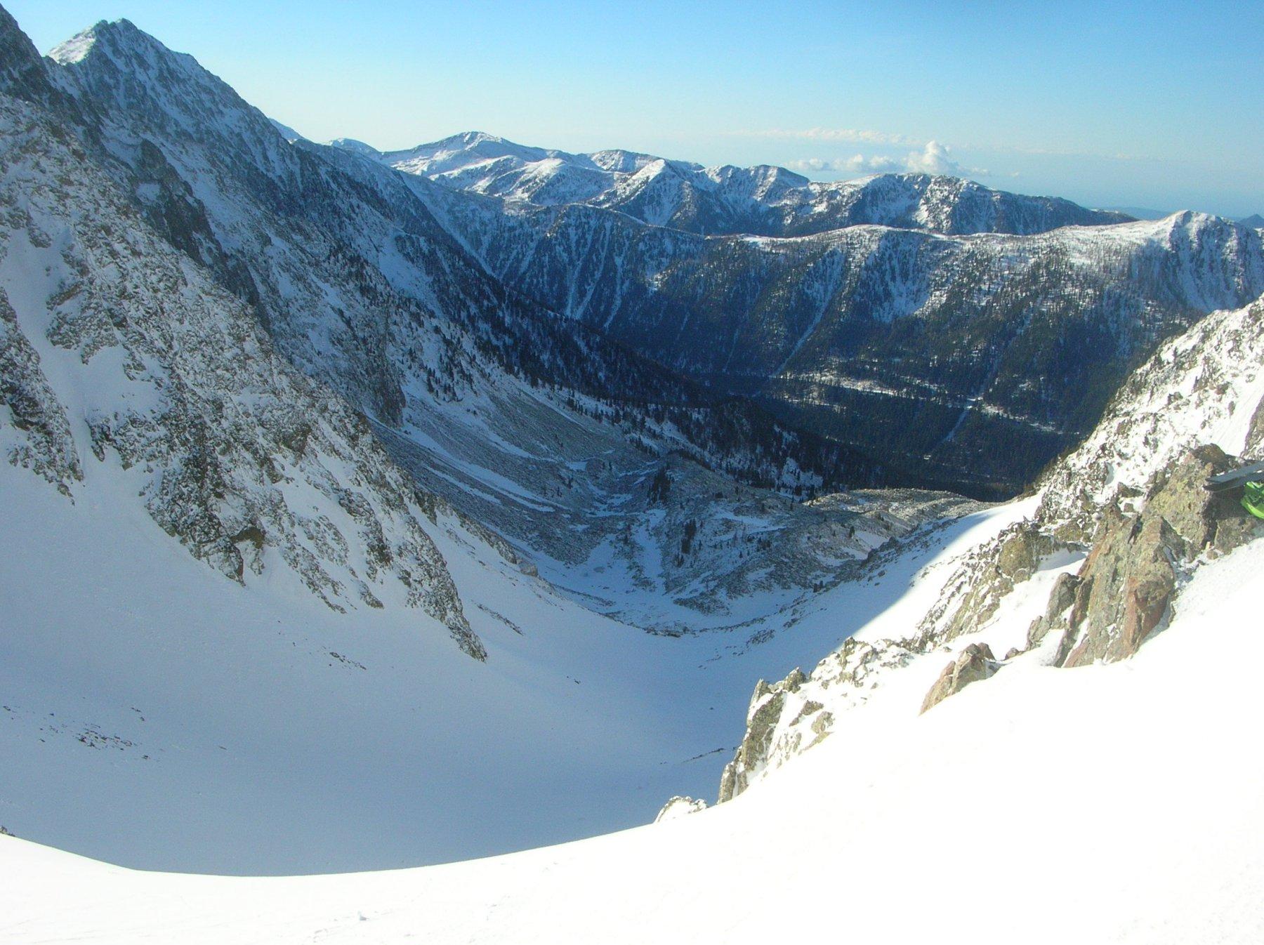 vista del vallone di discesa da Colle Ciriegia