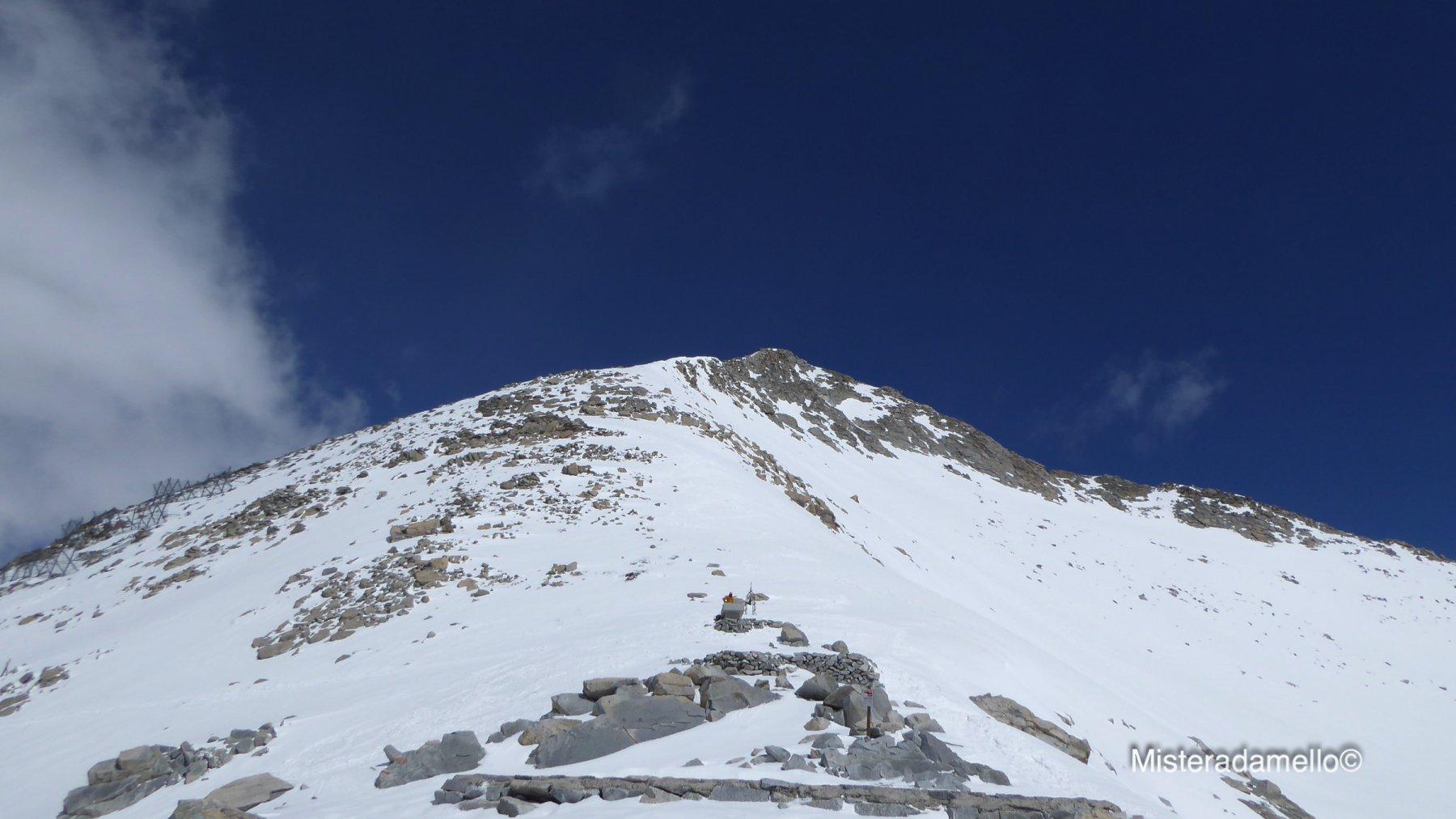 La dorsale di salita alla cima dal Passo della Lobbia