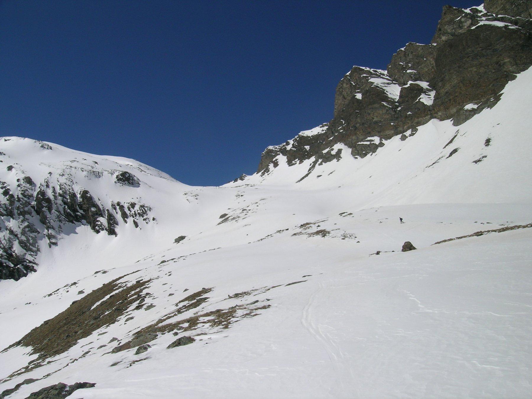 l'alto vallone del Nampio verso il colle di Entrelor
