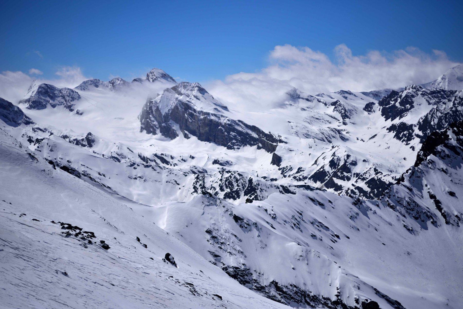 Le montagne della Val di Rhemes dalla vetta.
