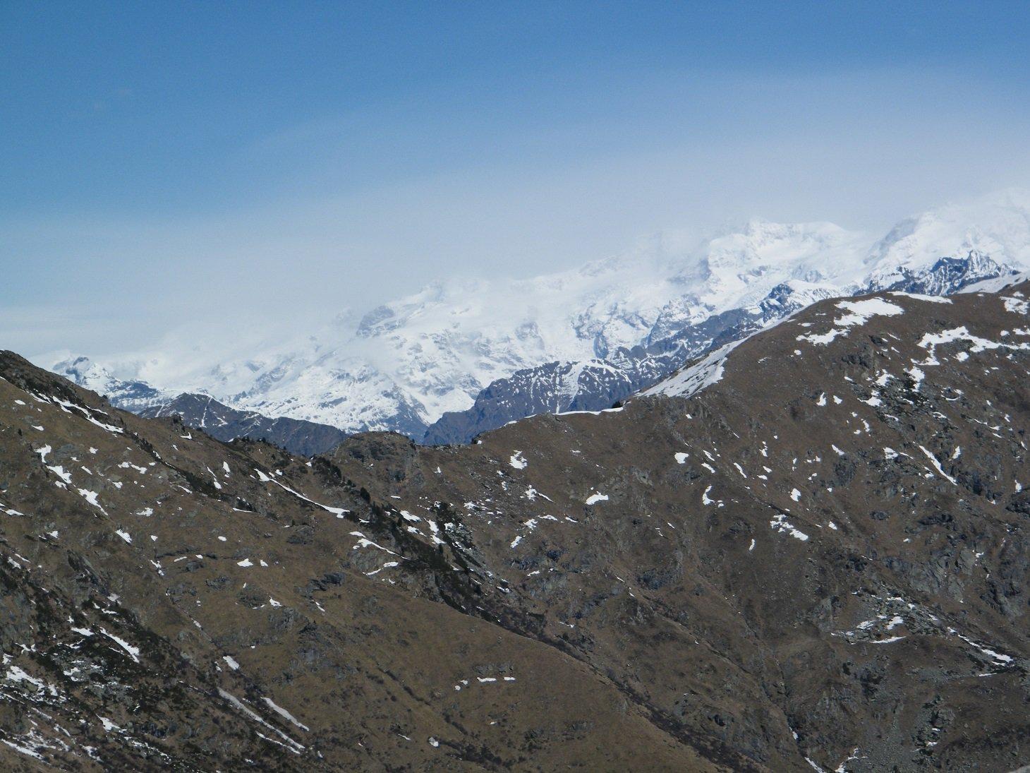 Il Monte Rosa nella tormenta.