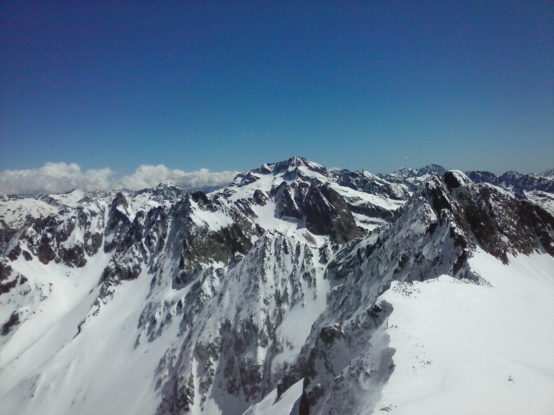 Panorama sulle cime della valle Gesso