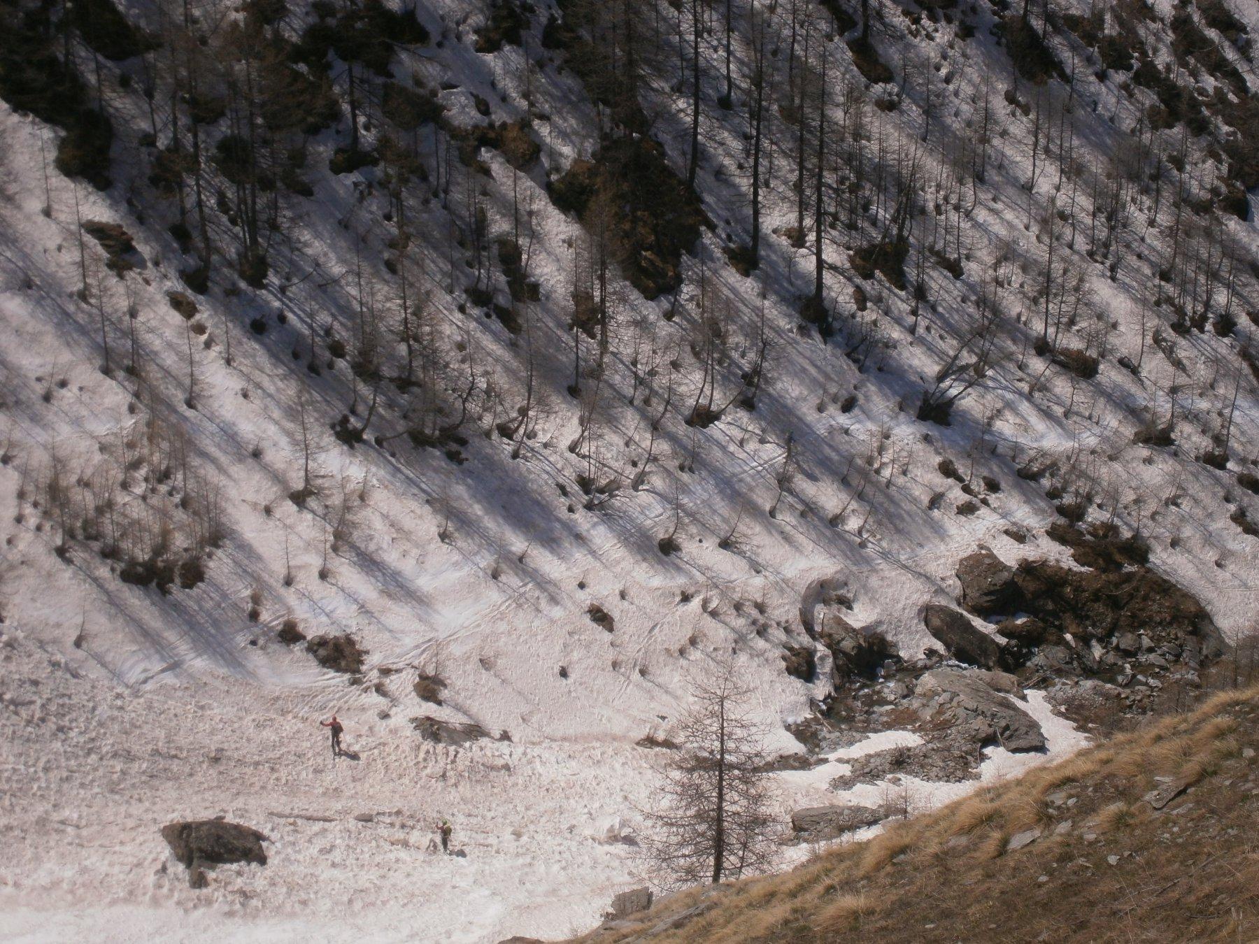 Gorgia vista dal sentiero estivo
