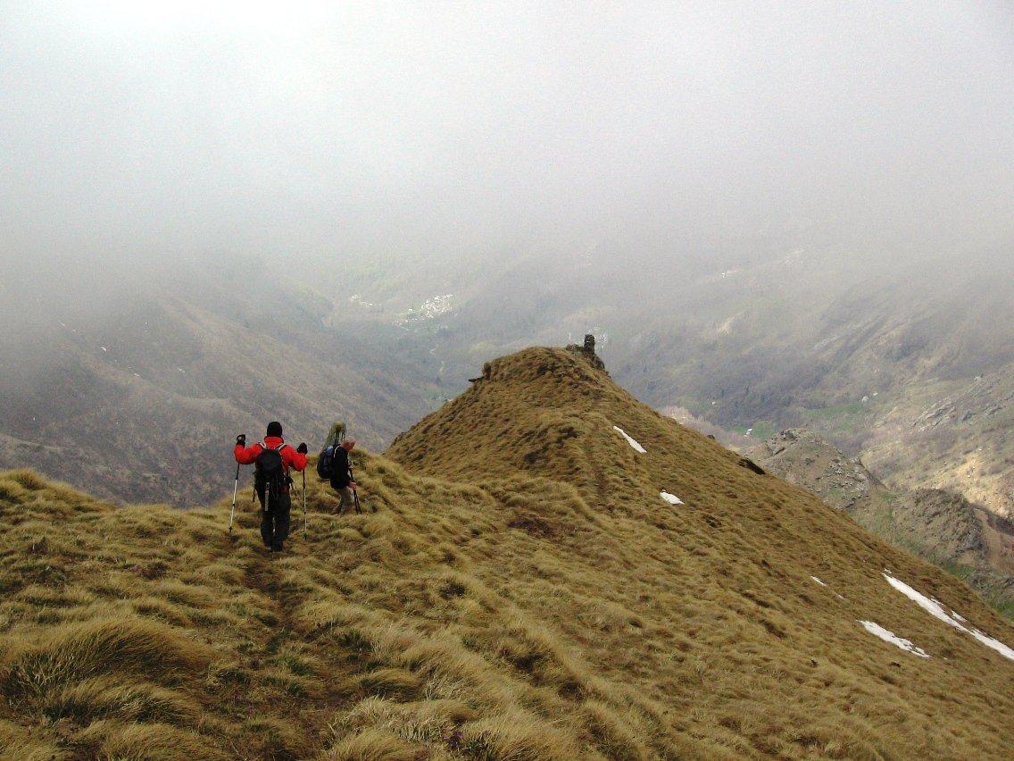 Rosta (Cima) dal Santuario di Prascondù per il Colle Crest 2016-04-28
