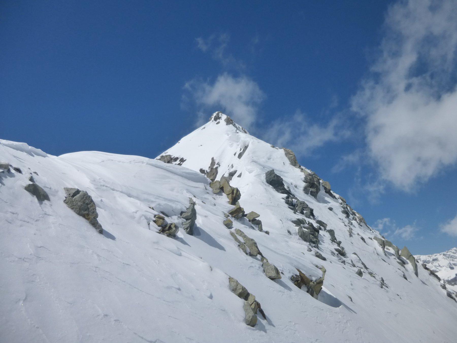 la cresta vista dal colle Blanchen Ovest.