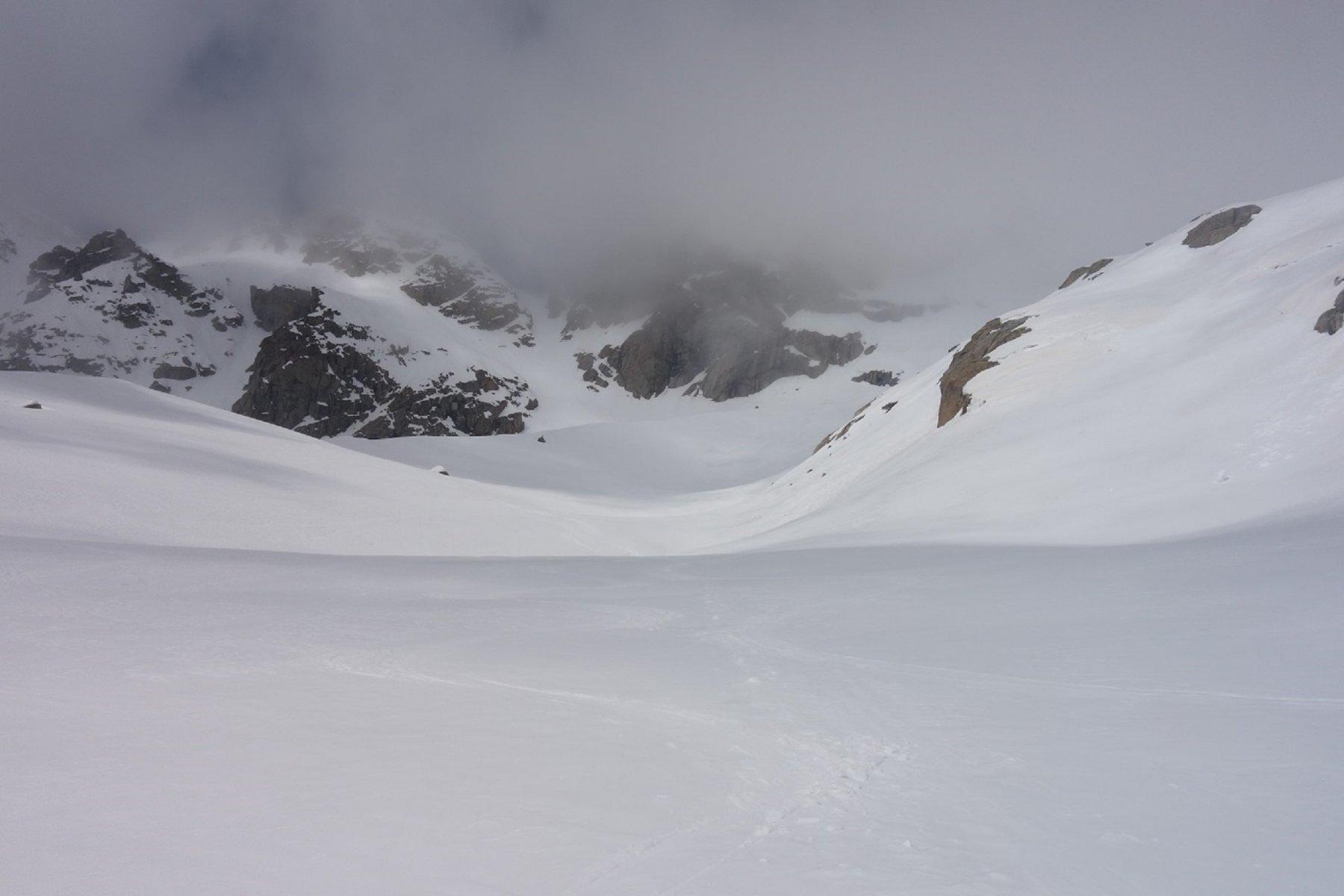 Bella neve in discesa