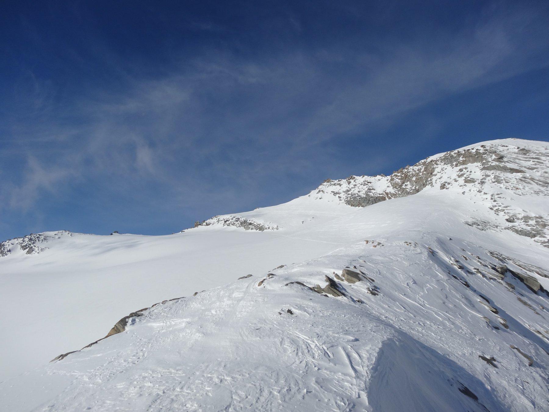 parte alta sul ghiacciaio