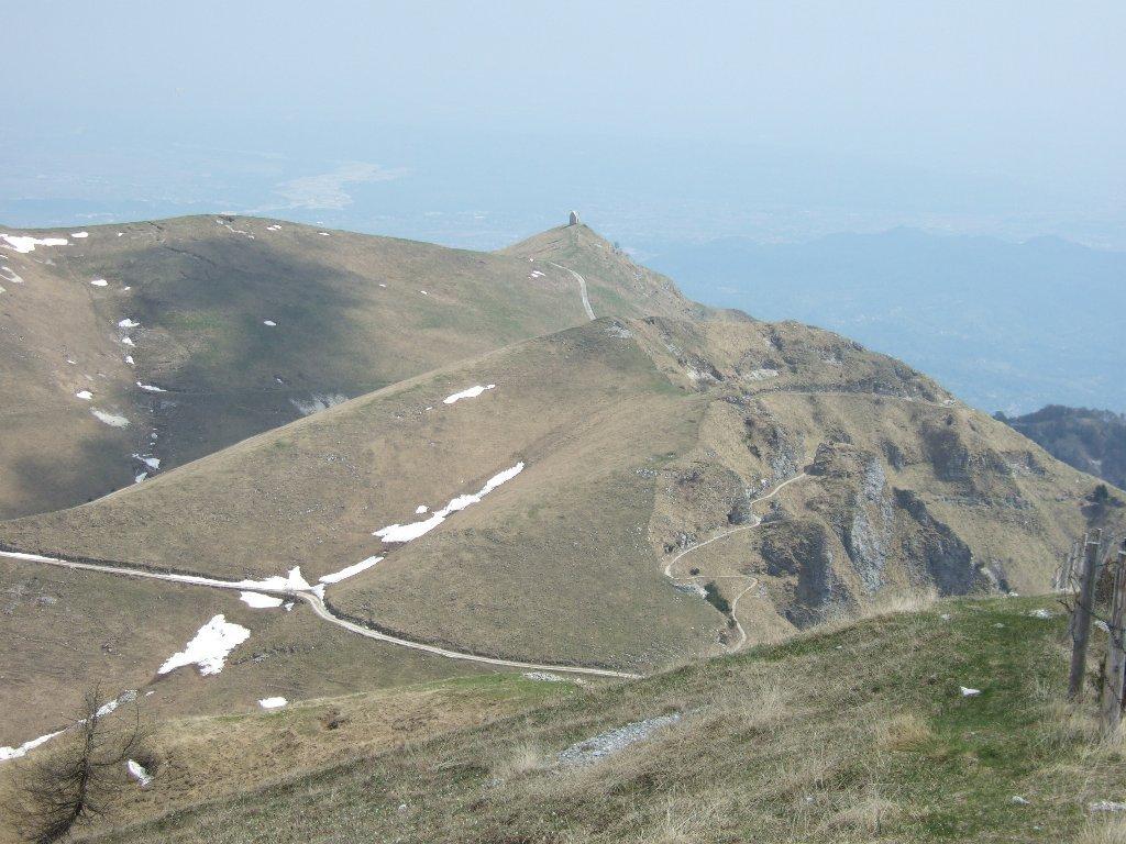 Vedetta con il percorso verso il Monte Meatte