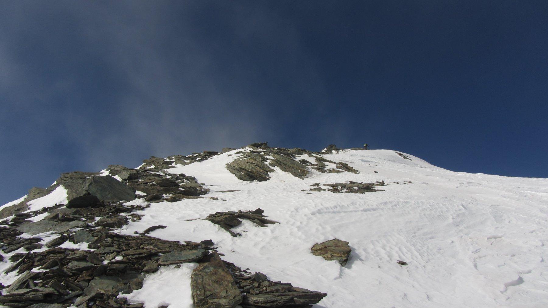 La parte finale della cresta che conduce in cima