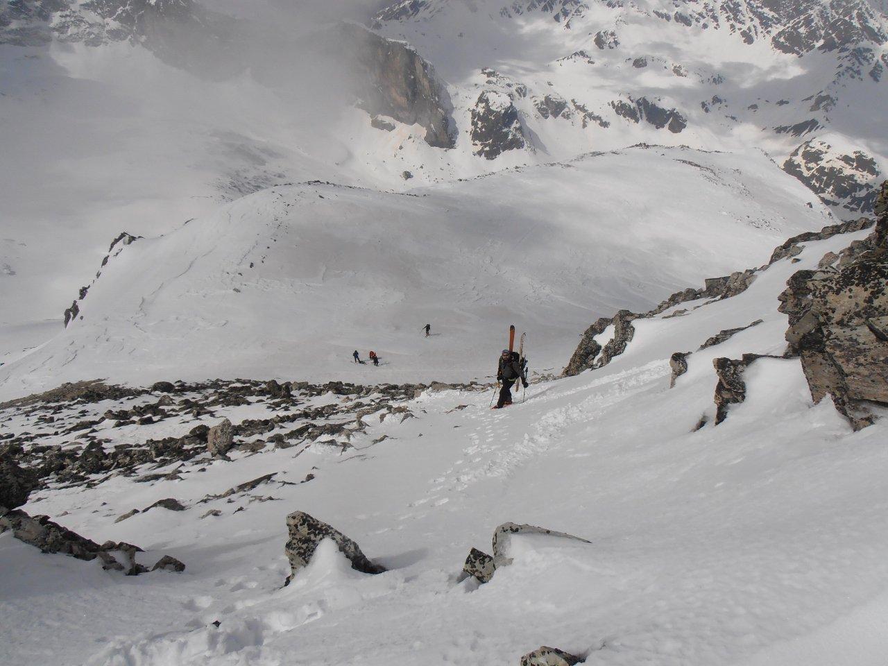 04 - Pasquale sulla rampa finale per la cima