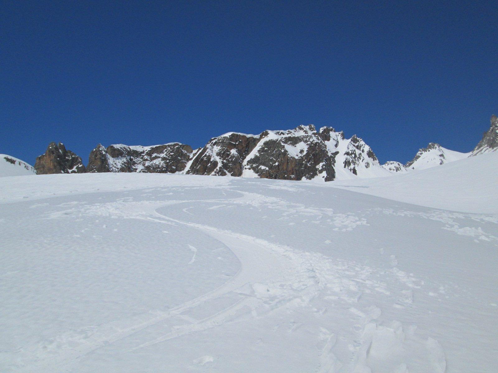 bella neve nella parte centrale