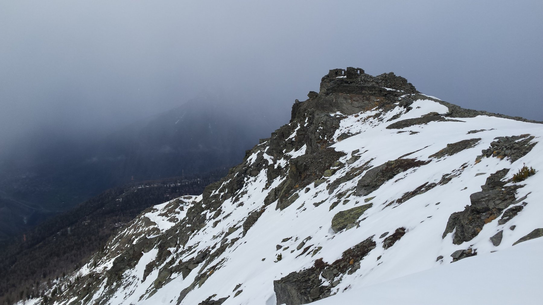 vista sul Mt Bianco (vista...si fa per dire...)