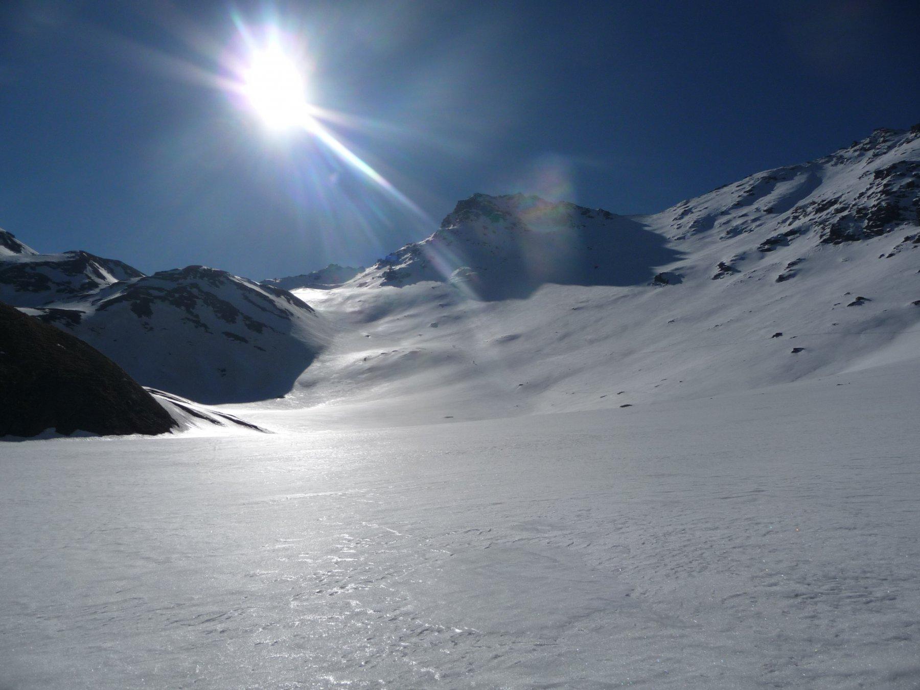 la punta di Valfredda dal pianoro a 2400 metri