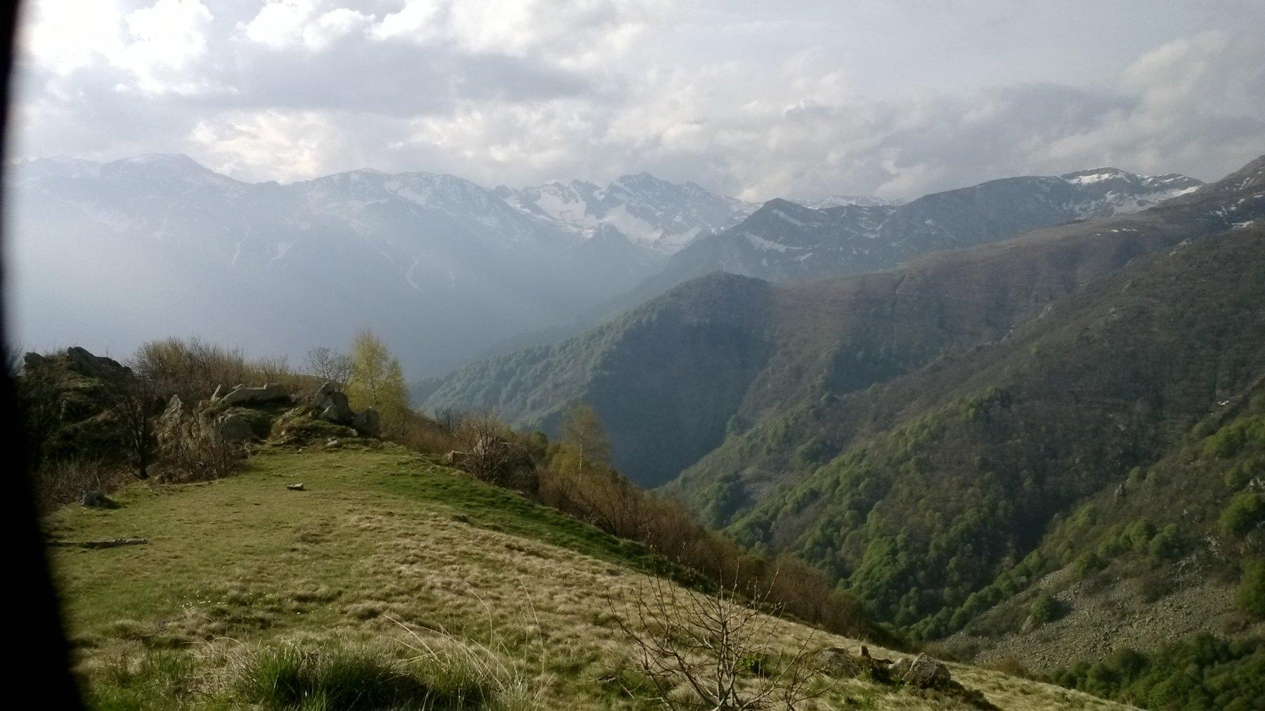 panorama mattutino verso il Marguareis