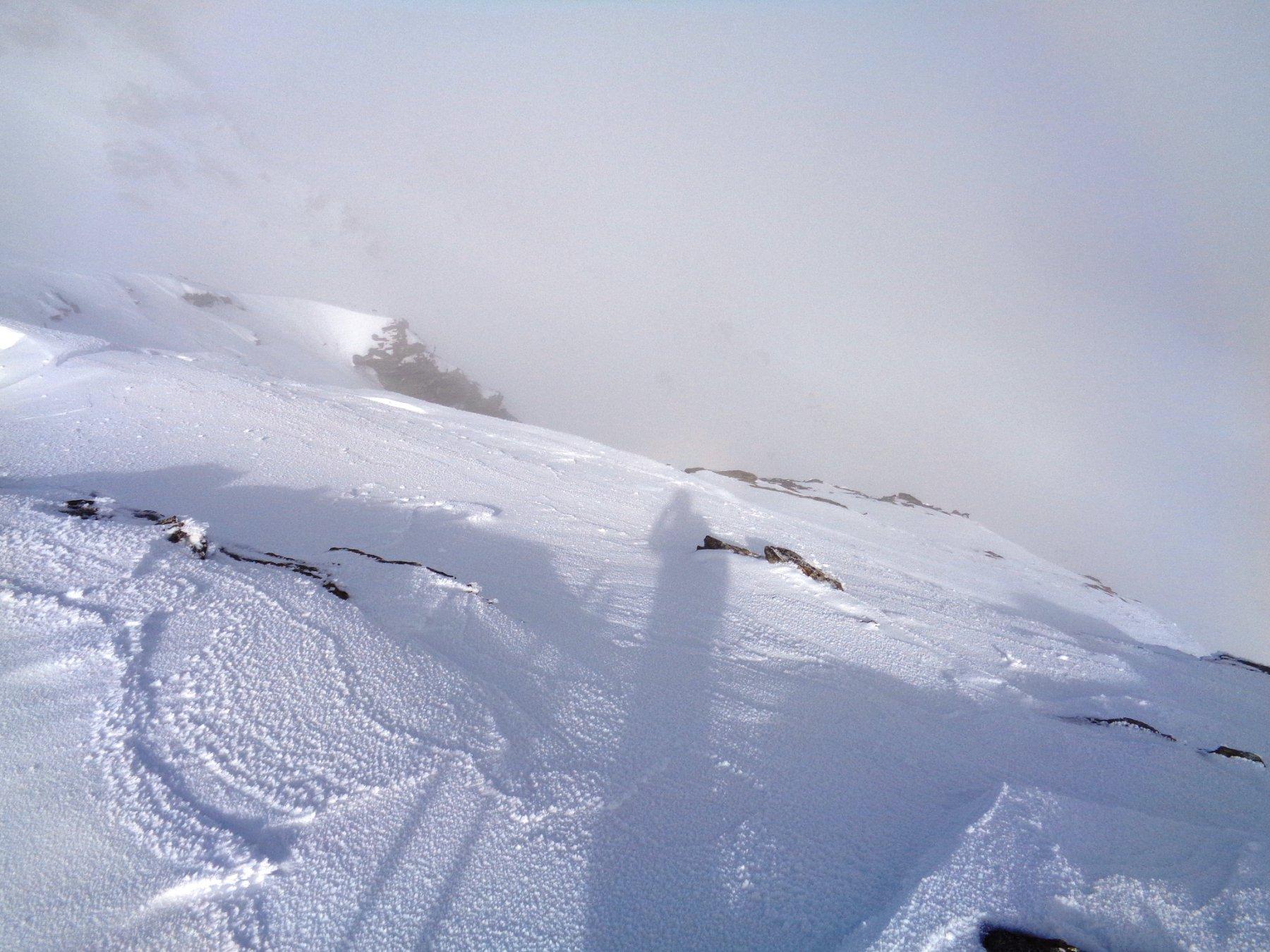 partenza dalla vetta: un salto nella nebbia