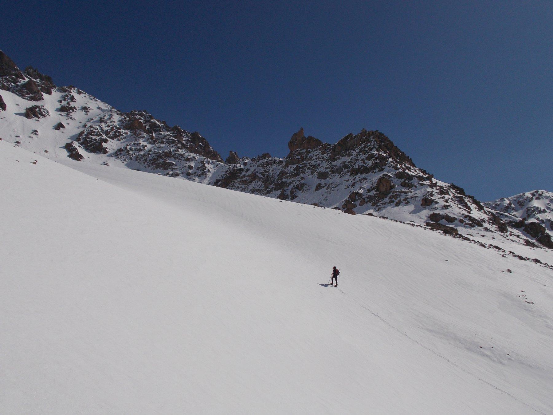 La Crete de Combeynot da monte della Cabane Pastorale..
