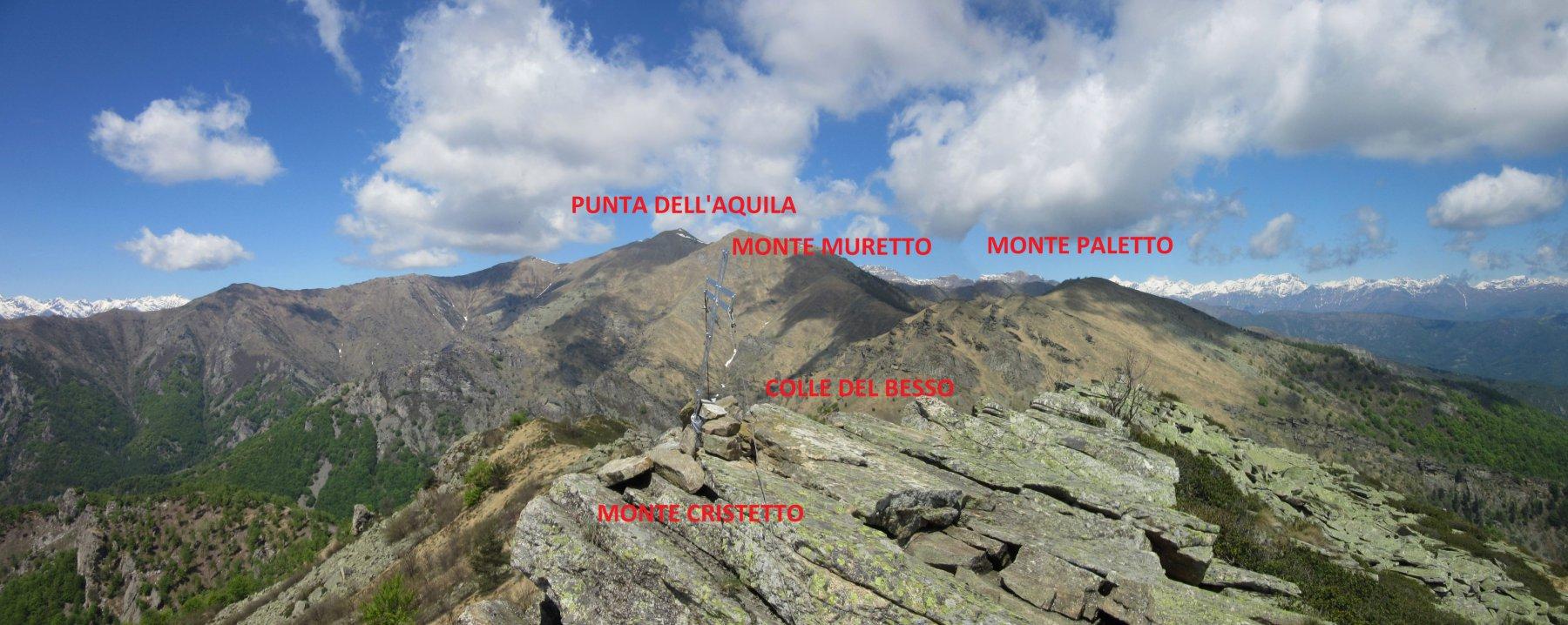 Panorama dalla cima del Cristetto