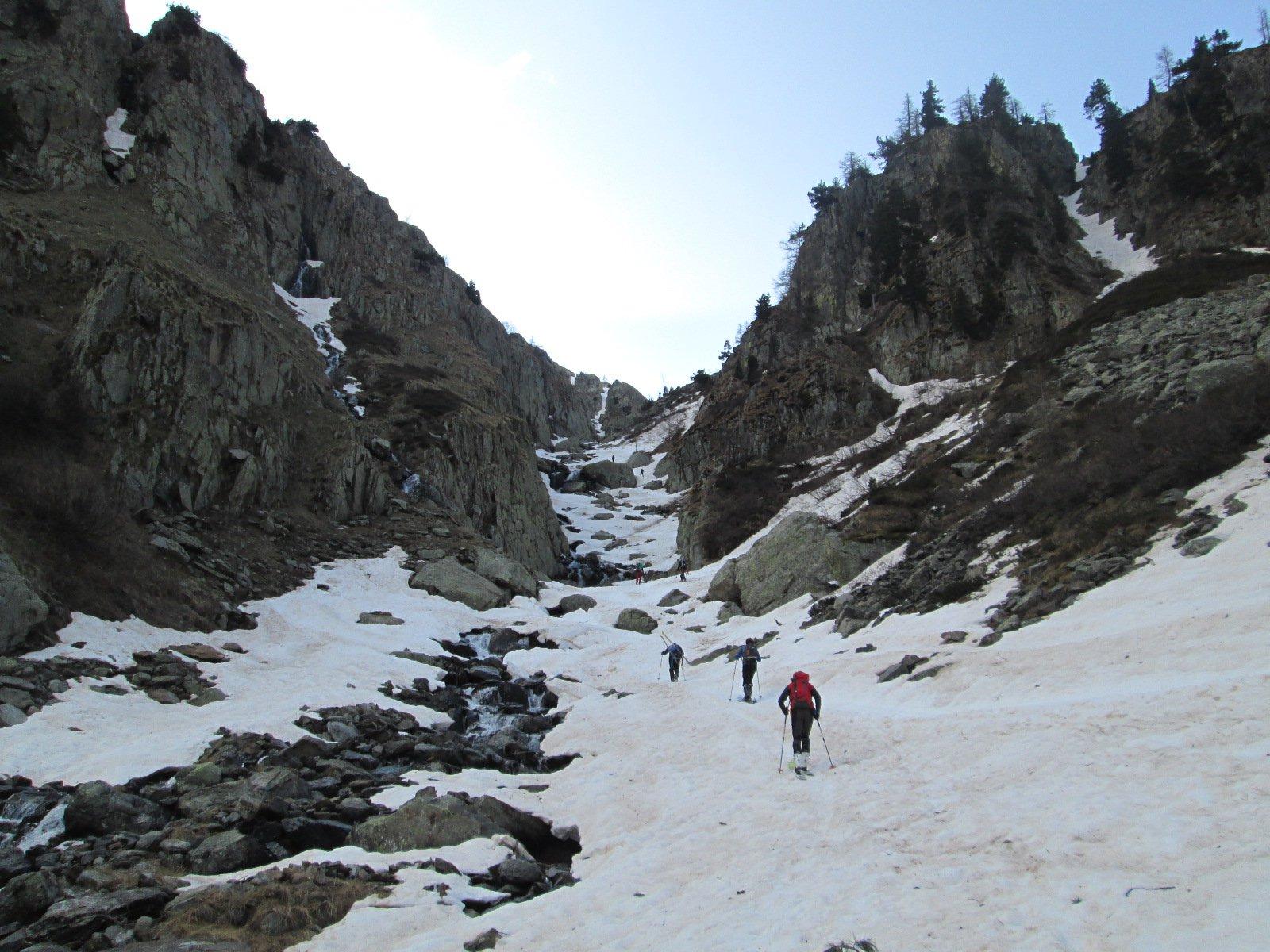 parte iniziale della gorgia, con poca neve