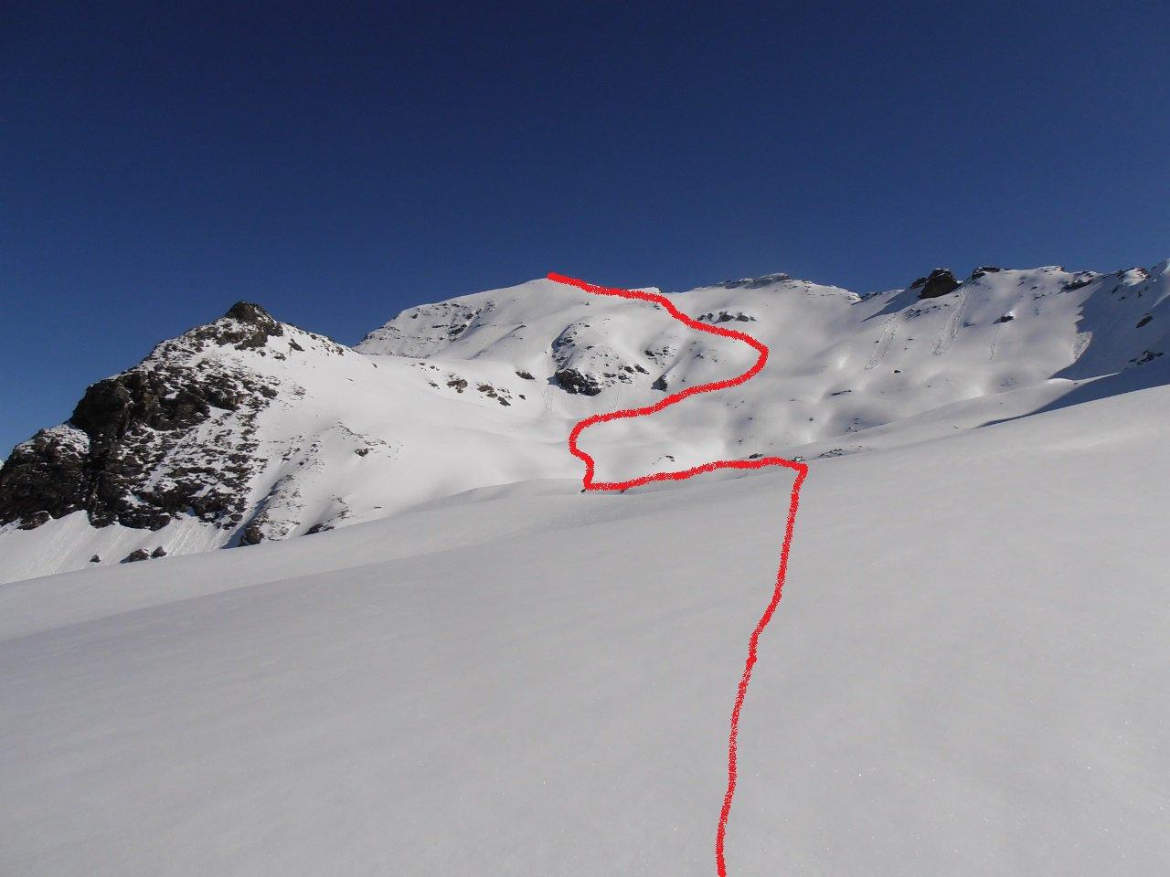 04 - itinerario seguito dal pianoro a quota 300 fino alla cima