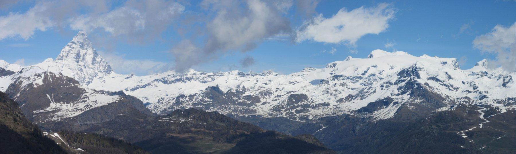 Panorama sul Cervino e Rosa