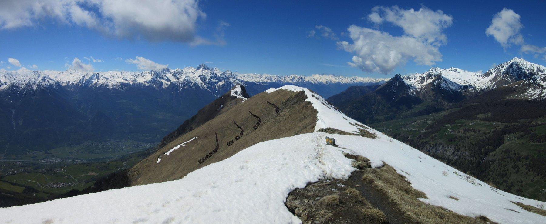 La cresta tra le due cime