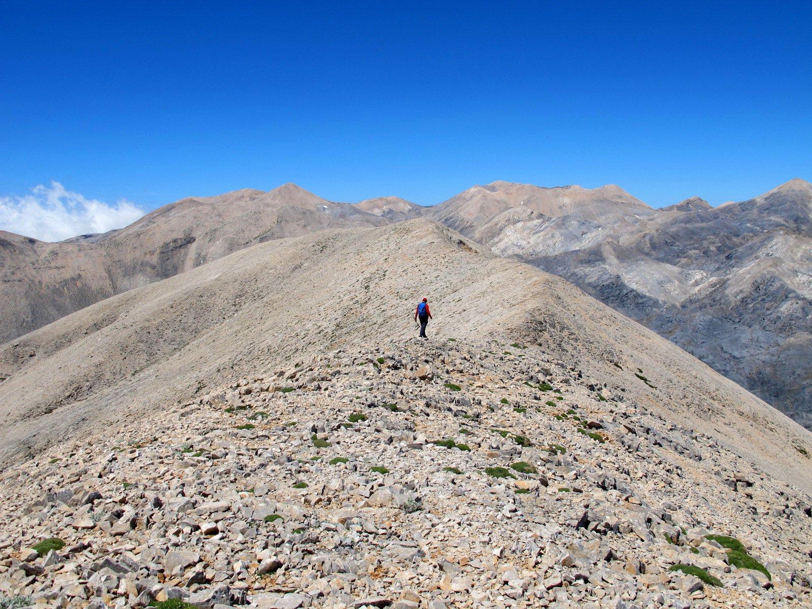 La cresta che collega il Fanari al Paspalomiti