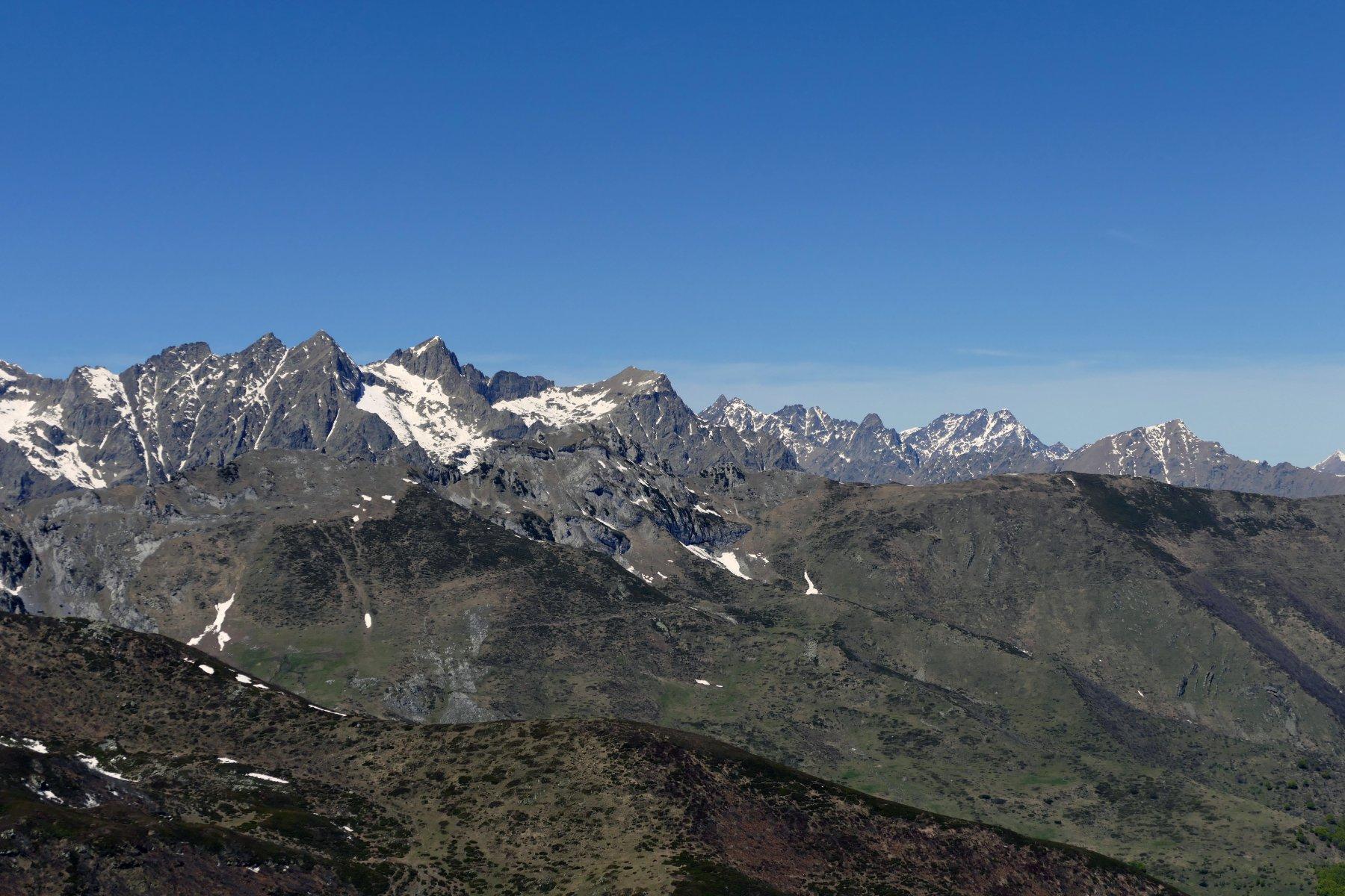 Vista sulle cime della Valle Gesso