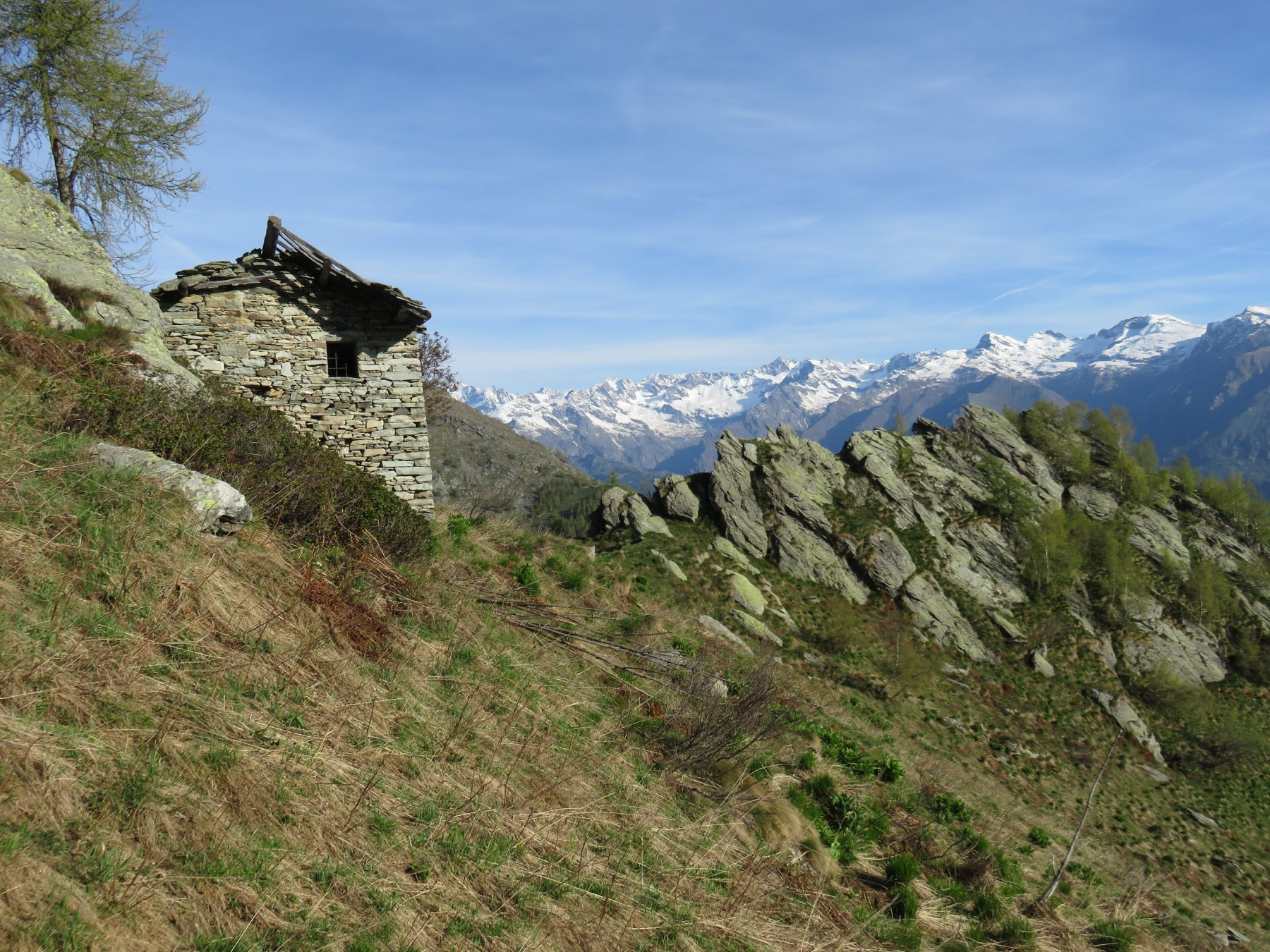 Arrivo all'Alpe Sprot