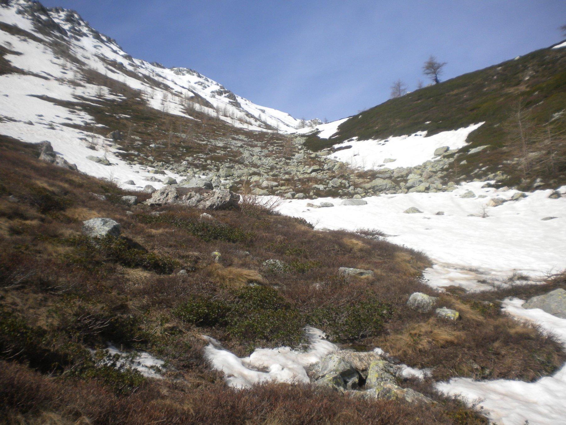 Parte iniziale su lingue di neve