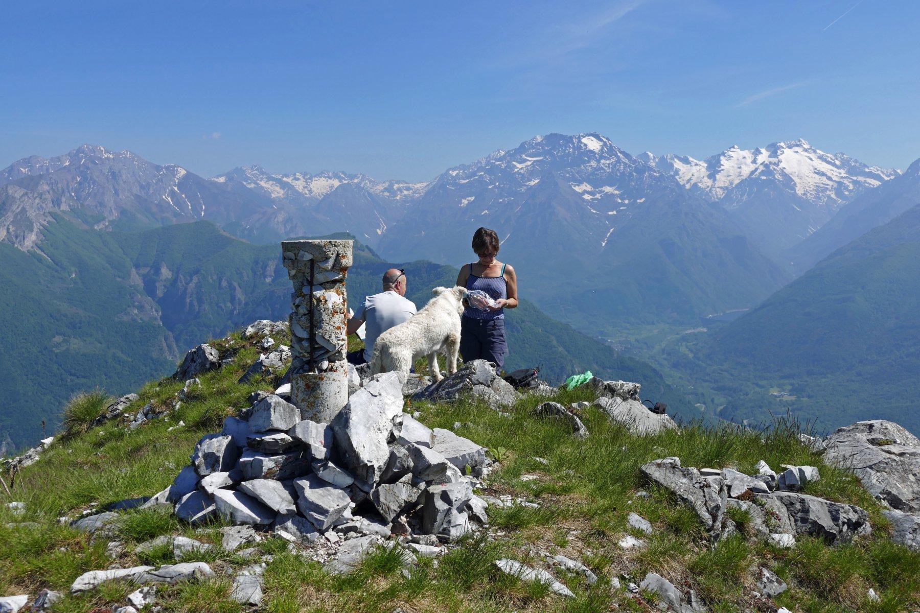 Pausa sulla cima Pissousa