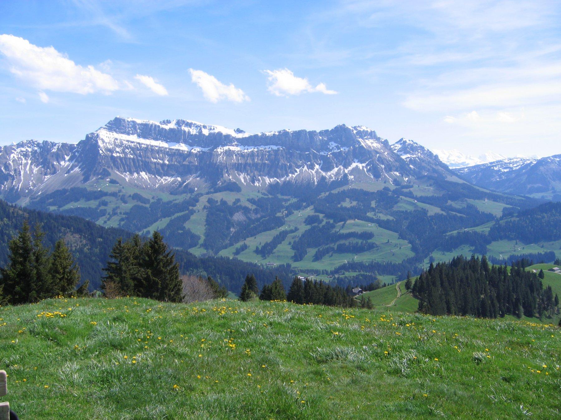 Il panorama dalla cima