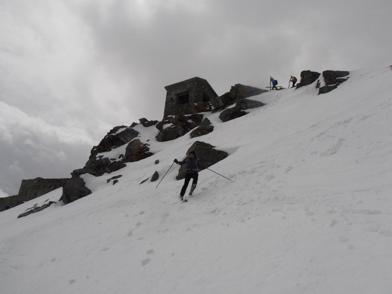 discesa diretta a Nord della cima