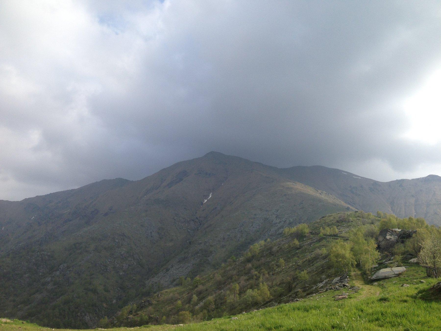 La cima vista dall'alpe Cialma
