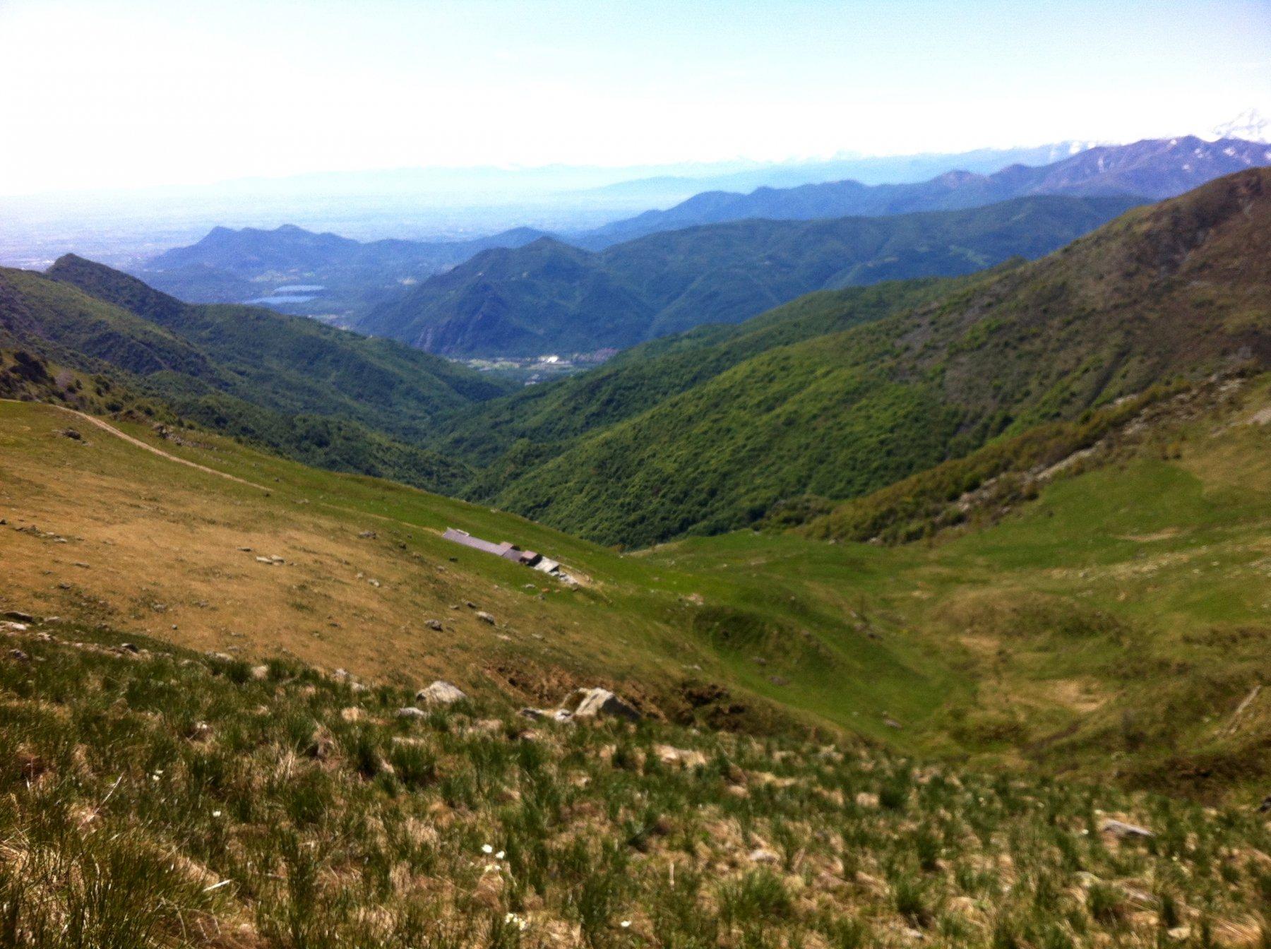 Dal Colombardo verso Avigliana.