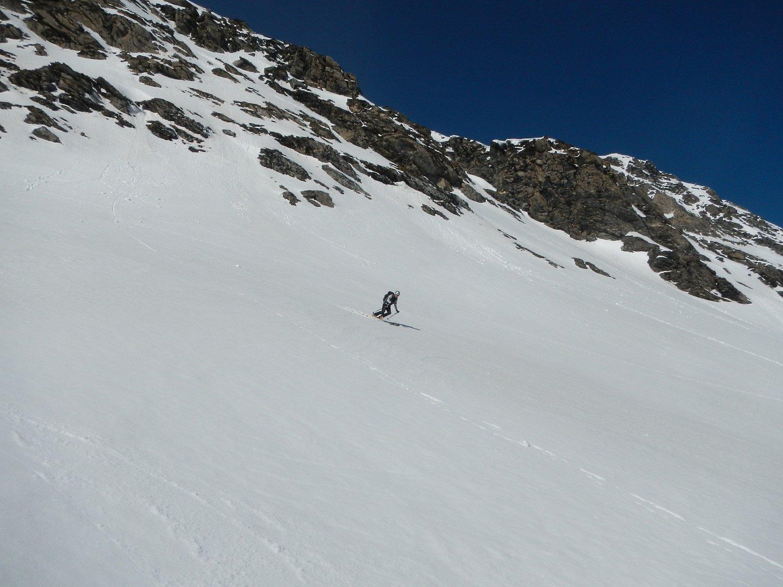 bella neve sui pendii laterali del Vallone di Cléry