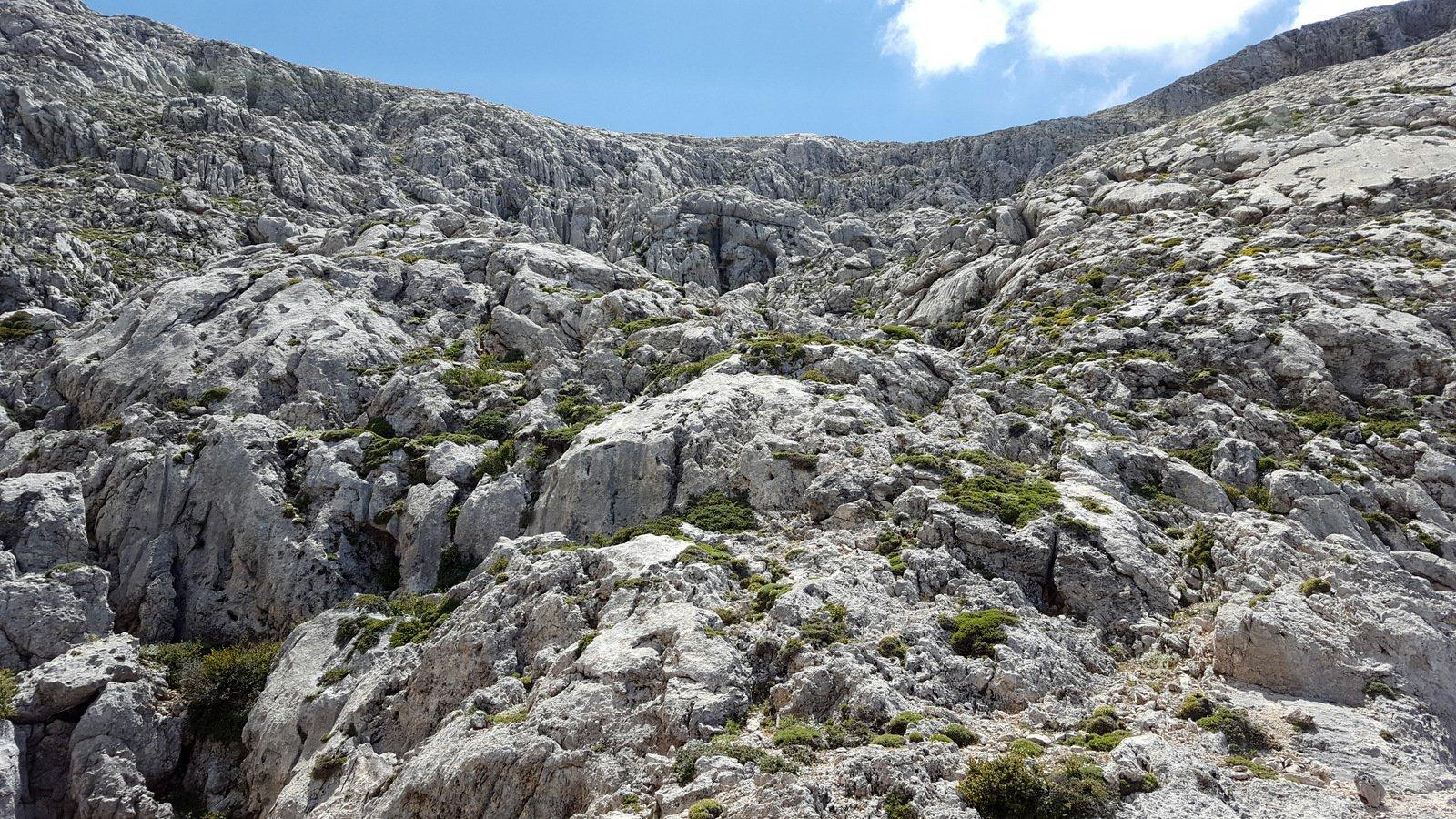 La parte alta del vallone disceso.