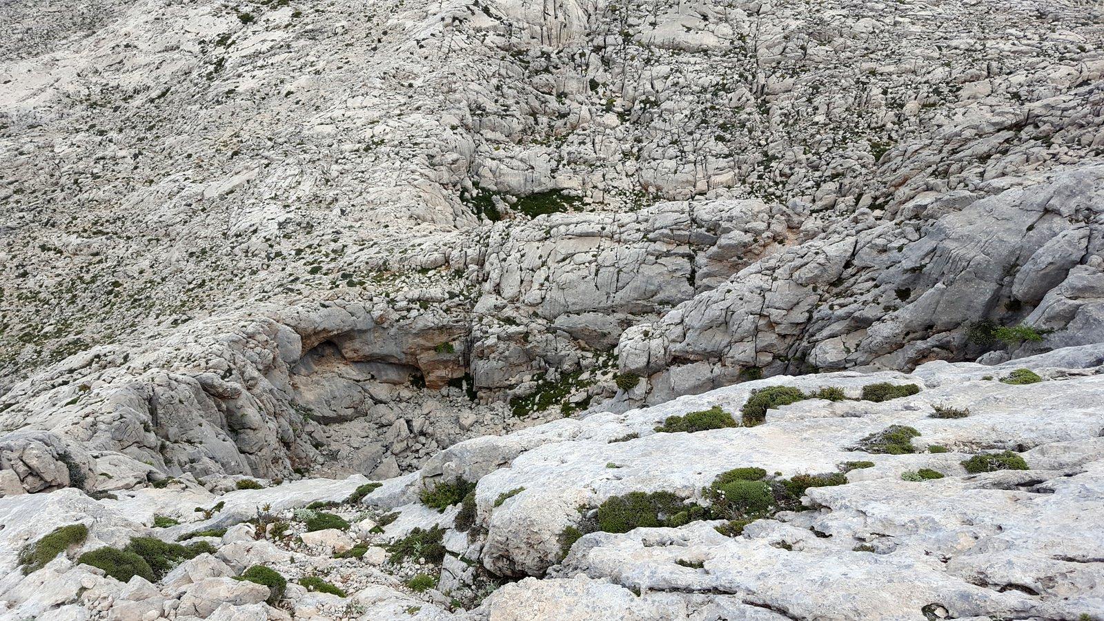 Terreno di avvicinamento al colle sul vallone di Mile.
